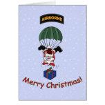 Parachuting Santa Card