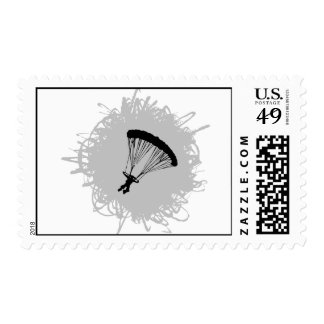 Parachuting Scribble Style Postage