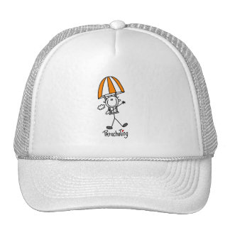 Parachuting Stick Figure Trucker Hat