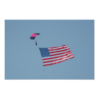parachuting the colors poster