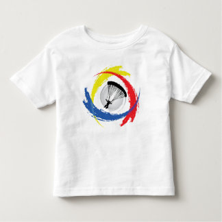 Parachuting Tricolor Emblem Toddler T-shirt