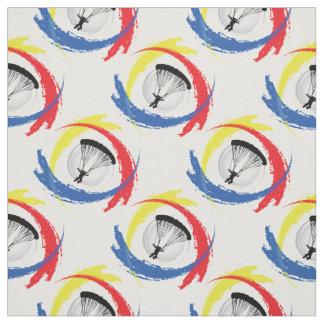 Parachuting Tricolor Sport Emblem Fabric