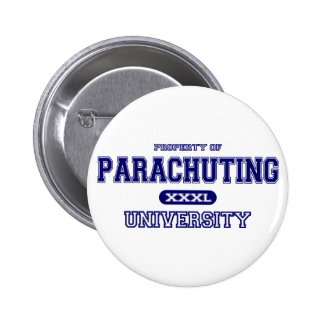 Parachuting University Pinback Button