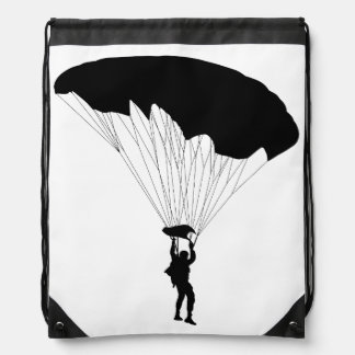 Parachutist Drawstring Bag