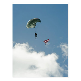 Parachutist Postcard