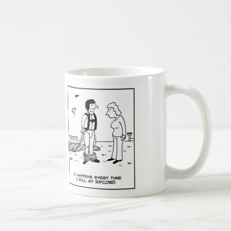 Parachutist's Trousers Fall Down Coffee Mug