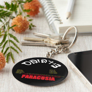 Paracusia CD-Keychain by ONIN TR3 with the Tracks Basic Round Button Keychain