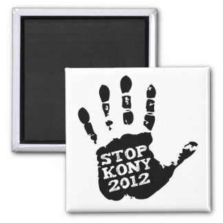 Parada 2012 de Kony Handprint José Kony Imán Para Frigorifico
