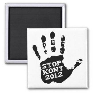 Parada 2012 de Kony Handprint José Kony Imán Cuadrado