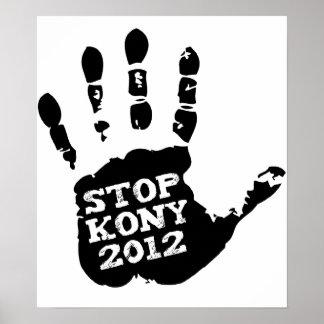 Parada 2012 de Kony Handprint José Kony Poster