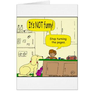 Parada 724 que da vuelta al dibujo animado de las tarjeta de felicitación