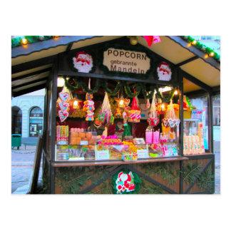 Parada alemana del navidad, del caramelo y de las  postal
