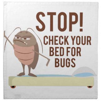 ¡Parada! Compruebe su cama para saber si hay Servilleta Imprimida
