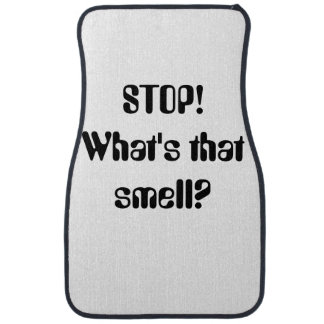 ¡PARADA! ¿Cuál es ese olor? Cita Alfombrilla De Auto