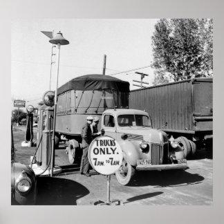 parada de camiones de los años 40 impresiones