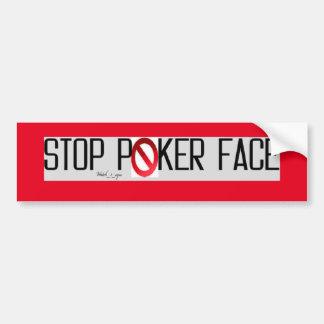 Parada de la cara de póker pegatina para auto
