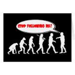 Parada de la evolución/de la creación que me sigue tarjeta