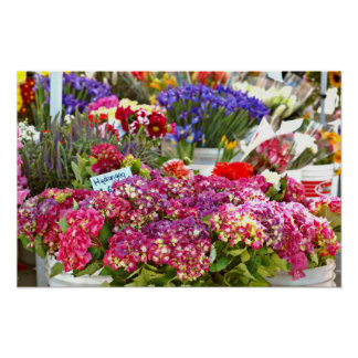 Parada de la flor del mercado del granjero póster