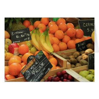Parada de la fruta en el mercado en la Provence Tarjeta De Felicitación