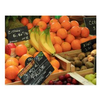 Parada de la fruta en el mercado en la Provence Tarjeta Postal
