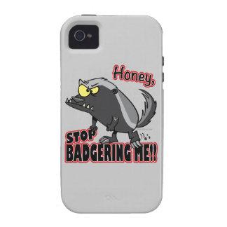 parada de la miel que me acosa tejón de miel diver vibe iPhone 4 funda