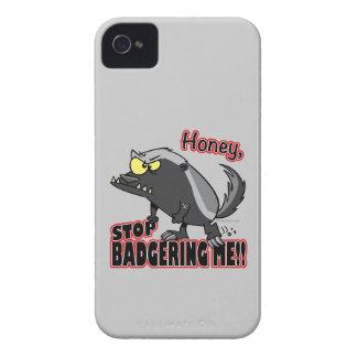 parada de la miel que me acosa tejón de miel diver iPhone 4 Case-Mate coberturas