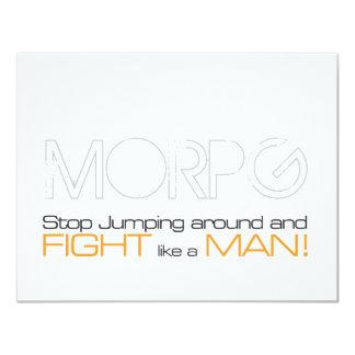 """Parada de MORPG que salta alrededor y lucha como Invitación 4.25"""" X 5.5"""""""