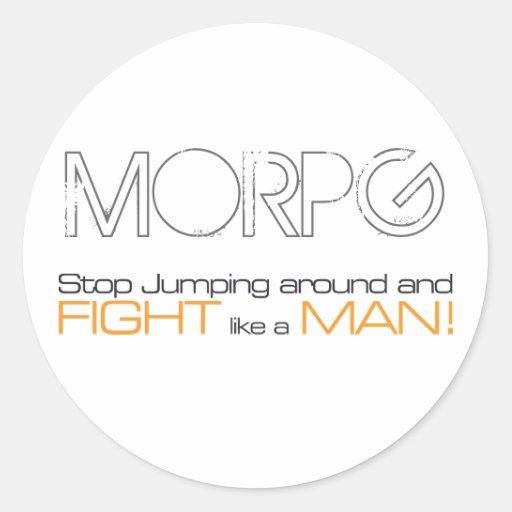 Parada de MORPG que salta alrededor y lucha como Pegatina Redonda