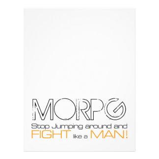 Parada de MORPG que salta alrededor y lucha como u Tarjeton