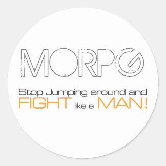 Parada de MORPG que salta alrededor y lucha como u Pegatina Redonda
