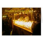 Parada del queso, mercado alemán del navidad, Manc Felicitación