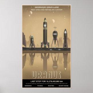 Parada del resto de Urano Póster
