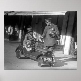 Parada del tráfico de coche del pedal 1922