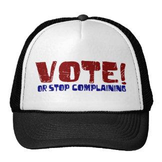 Parada del voto que se queja gorros bordados
