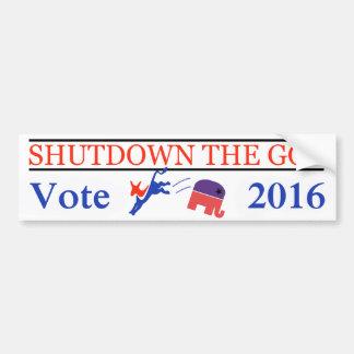 ¡Parada el GOP - voto 2016 - GOTV Democratic! Pegatina Para Coche