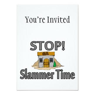"""Parada es tiempo de Slammer Invitación 5"""" X 7"""""""