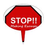 ¡Parada!! Fabricación de excusas Figuras Para Tartas