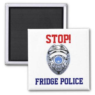 ¡Parada! Imán de la policía del refrigerador