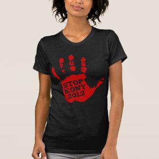 Parada José Kony de Handprint del rojo de Kony Tee Shirt