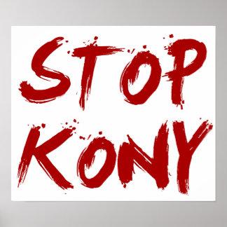 Parada José sangriento rojo Kony de Kony 2012 Posters