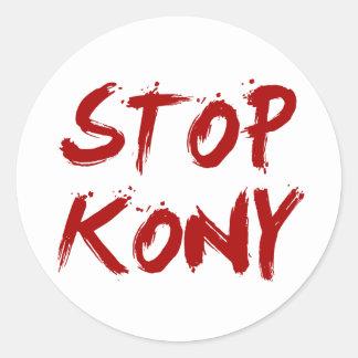 Parada José sangriento rojo Kony de Kony 2012 Pegatina Redonda