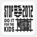 Parada Kony 2012 - hágala para los NIÑOS Colcomanias Cuadradas Personalizadas