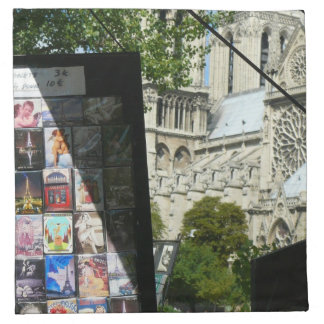 Parada mercantil cerca de Notre Dame Servilleta