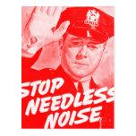 Parada Noise innecesario de la seguridad del vinta Postal