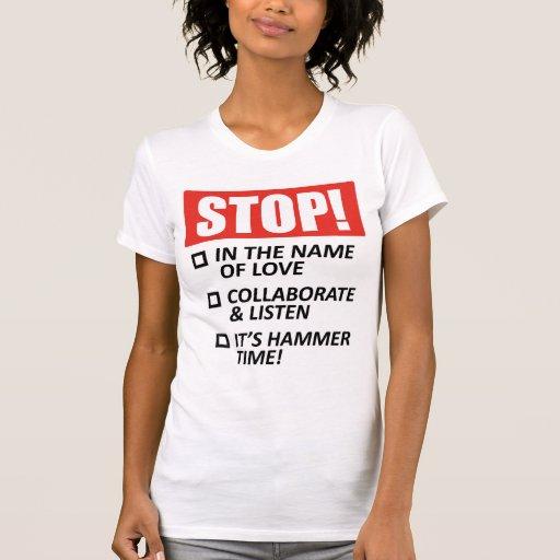 ¡Parada! Opciones… Camisetas sin mangas de las señ