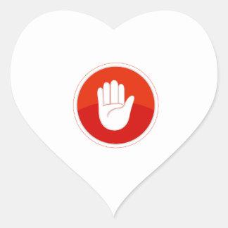 parada pegatina en forma de corazón