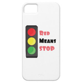 Parada roja de los medios iPhone 5 carcasa