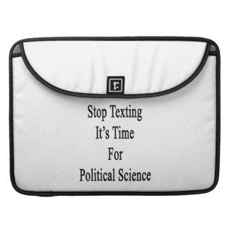 Parada Texting es hora para la ciencia política Funda Para Macbook Pro