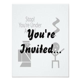 parada usted está bajo humor 2 de la música de la invitación 10,8 x 13,9 cm