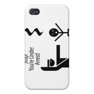 parada usted está bajo humor de la música de la de iPhone 4 funda